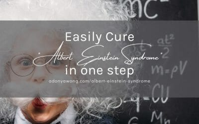 "Easily Cure ""Albert Einstein Syndrome"" in one step"